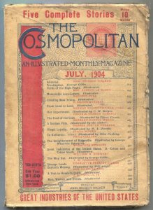 Cosmopolitan Pulp July 1904- Food of the Gods by HG Wells G/VG
