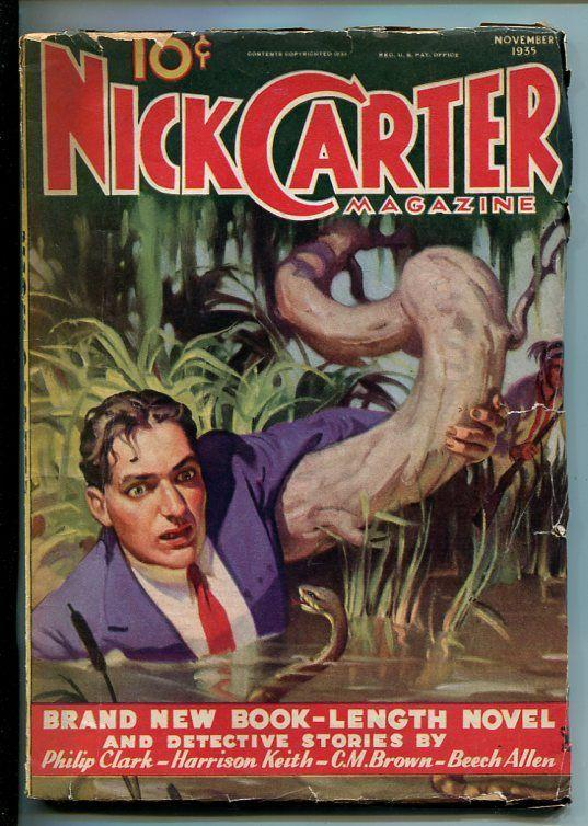 NICK CARTER-NOV 1935-DET PULP FICTION-TRAIL OF THE SCORPION-CHICK -good minus