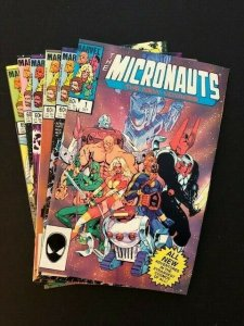 Lot of 6- Marvel THE MICRONAUTS THE NEW VOYAGES #1-5 ,7 FINE/VERY FINE (A179)