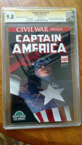 Captain America #25 Signature Series (Marvel, 4/2007) CGC NM/MT 9.8 White pages.