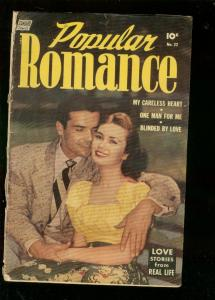 POPULAR ROMANCE #22 1953-PHOTO COVER-ALEX TOTH STORY G/VG