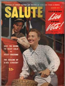 Salute   3/1947-Bing Crosby-elusive military magazine-cheesecake-VG