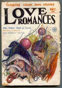 Love Romances Pulp December 1929- Other Half of Love G/VG