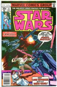 STAR WARS #6, VF+, Luke Skywalker, Darth Vader, 1977, more SW in store, QXTb