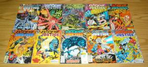 Extreme Justice #0 & 1-18 VF/NM complete series - blue beetle - booster gold set