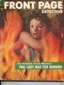 Front Page Detective-4/56-Murder-Killer-Execution-VG