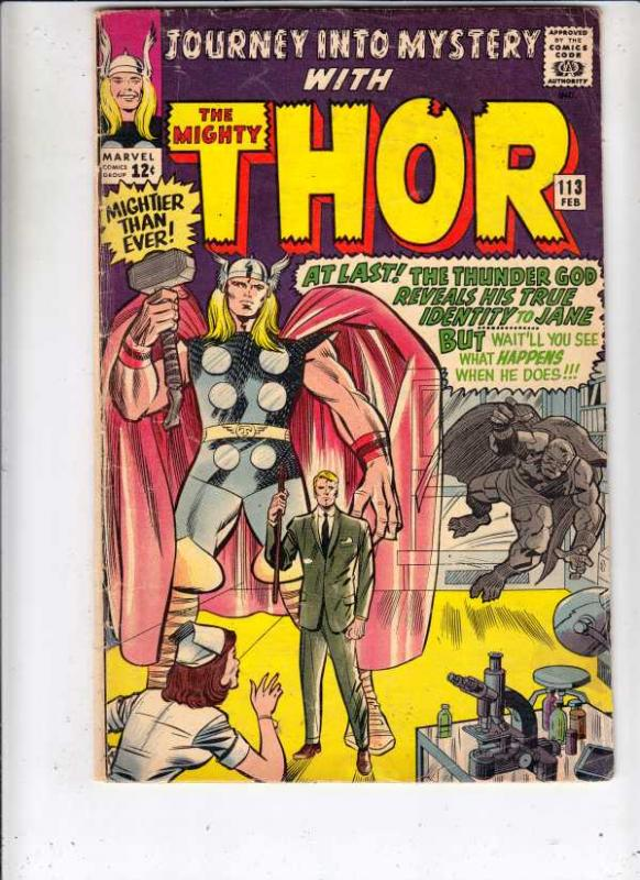 Journey into Mystery #113 (Feb-65) VG Mid-Grade Thor