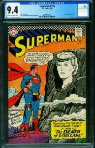 SUPERMAN #194 CGC 9.4 Silver Age- Death of Lois Lane 2039573012