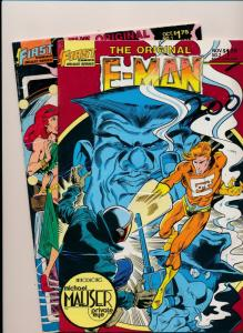 FIRST Comics SET of 2! E-MAN #1 & #2 VERY FINE+ (HX855)