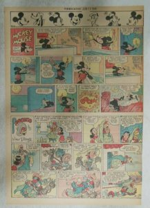 Mickey Mouse Sunday Page by Walt Disney from 6/17/1945 Tabloid Page Size