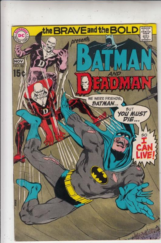 Brave and the Bold, The #86 (Nov-69) VF/NM High-Grade Batman, Deadman