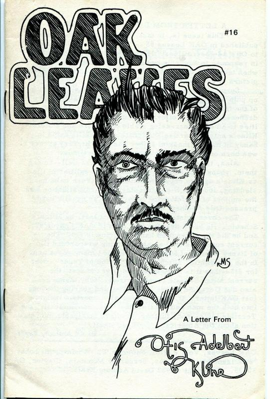 Oak Leaves #16 1982-fanzine-sci-fi pulp author Otis Adelbert Kline-FN