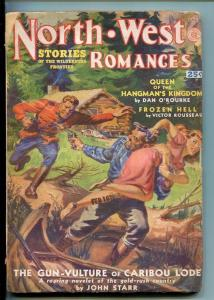 NORTHWEST ROMANCES-SPG1951 PULP FICTION-RCMP-SAUNDERS ART-SPICY-STARR-vg+