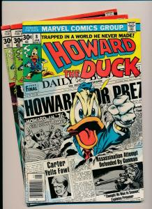 MARVEL LOT of 3-HOWARD THE DUCK #8,#9, #11 1976 GOOD/VERY GOOD (PJ86)