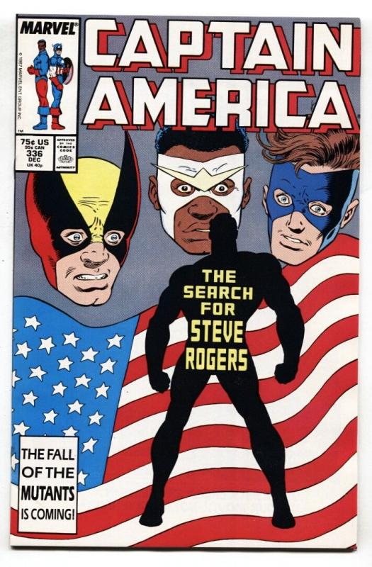 Captain America #336 comic book 1987-1st Brother Nature NM-
