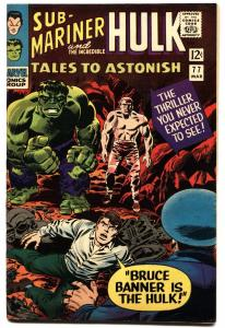 TALES TO ASTONISH #77-hulk cover-1965-marvel vf