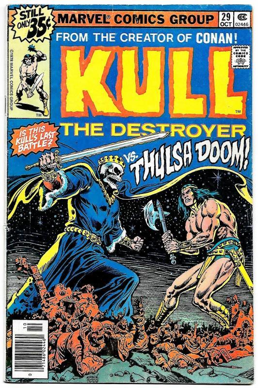 Kull The Destroyer #29 (Marvel, 1978) VG/FN