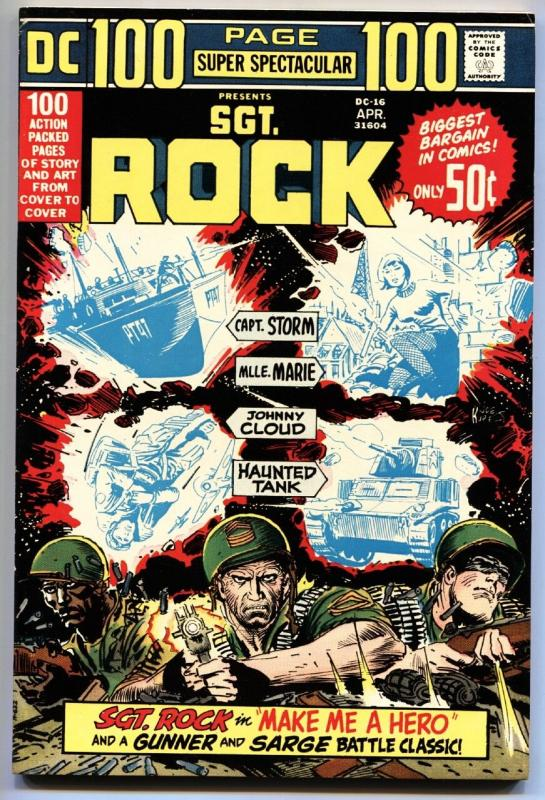 DC 100-PAGE SUPER SPECTACULAR #16-OUR ARMY AT WAR-Sgt. Rock-Haunted Tank