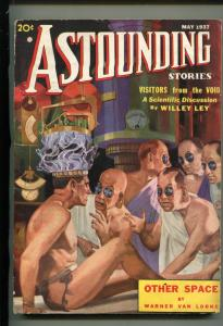ASTOUNDING STORIES-MAY 1937-STREET & SMITH-VISITORS FROM THE VOID-vg/fn