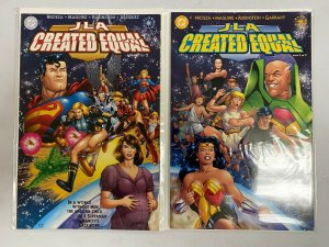 JLA Created Equal set from:#1-2 DC 2 different books 8.0 VF (2000)