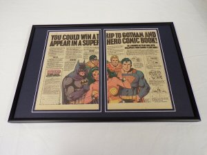 1978 Clark Bar / DC Comics 12x18 Framed ORIGINAL Vintage Advertising Display