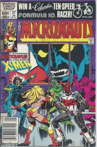 The Micronauts #37 (Jan 1982) - guest starring Nightcrawler & the X-Men