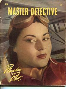 MASTER-DETECTIVE-APRIL 1947-G-SPICY-MURDER-KIDNAP-RAPE-SALKINS COVER-SMUGGLING G