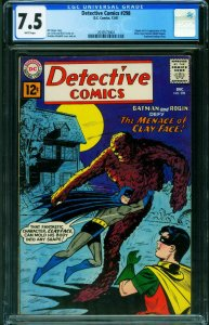 Detective #298 CGC 7.5 WP 1961-DC-1st Silver Age Clay-face 2039573004