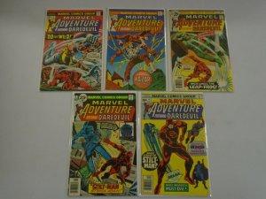 Marvel Adventure featuring Daredevil run #2-6 4.0 VG (1976)