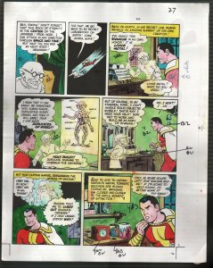 Hand Painted Color Guide-Capt Marvel-Shazam-C35-1975-DC-page 27-Dr Sivana-VG/FN