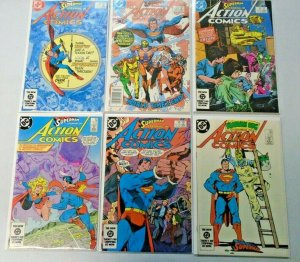 Superman Action Comics Lot From: #551-578 12 Different 8.0 VF (1984-86)