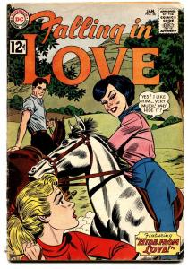 FALLING IN LOVE #56 comic book 1963-DC ROMANCE COMICS-HORSEBACK