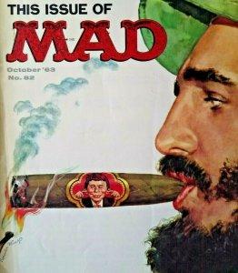 MAD Magazine Oct 1963 No 82 Fidel Castro Alfred Hitchcock The Birds The Nurses
