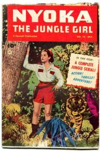 Nyoka The Jungle Girl  #72 1952- Fawcett Golden Age-Kay Aldridge cover g/vg