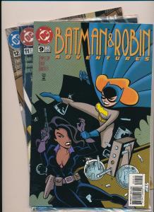 DC Comics BATMAN & ROBIN Adventures  #9, 12, 11 w/Edge Magazine1996  ~VF (HX602)