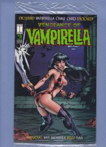 Vengeance of Vamirella #11 NM Sealed In Bag with Trading Card