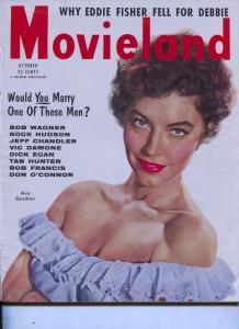 Movie Life-Ava Gardner-Grace Kelly-Gregory Peck-Oct-1954