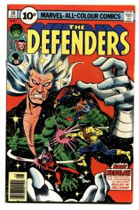 THE DEFENDERS #38-HULK-DR. Strange-Comic Book-Rare PENCE VARIANT