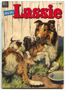 Lassie #15 1954- Dell Golden Age comic MGM G/VG