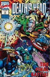 Deaths Head II #4 Marvel UK 1992 NM 9.4 Wraparound cover by Liam Sharp