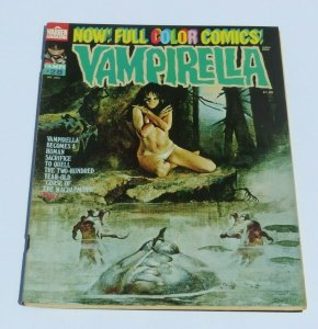 Vampirella #28 VF- 1973 Horror Magazine Provocative Cover Human Sacrifice Curse