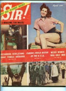 SIR!-APR 1953-M*R* CORDAY-LA BREA TAR PITS-CHEESECAKE-YOUSOUF-fr