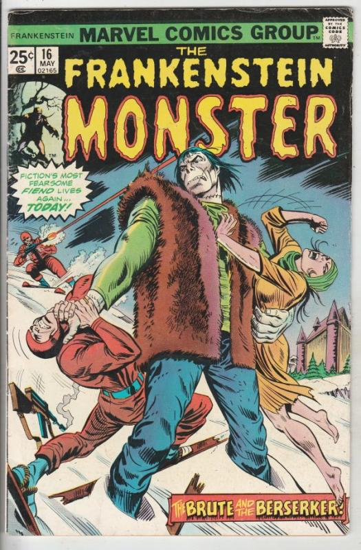 Frankenstein, the Monster of #16 (May-75) FN+ Mid-High-Grade Frankenstein