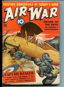 AIR WAR-#1-FALL 1940-CAPTAIN DANGER-SOUTHERN STATES PEDIGREE-vf/nm