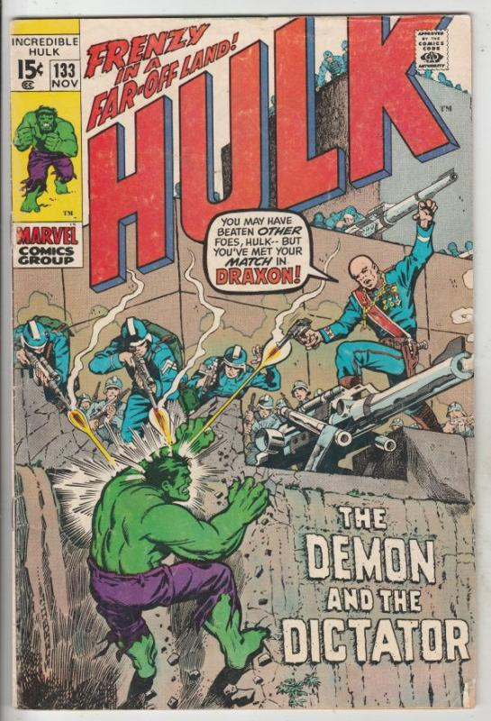 Incredible Hulk #133 (Nov-70) VG Affordable-Grade Hulk