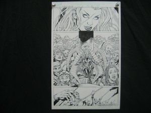 PETER VALE- X-MEN FOREVER-#15-ORIGINAL ART-PG 21-MARVEL FN