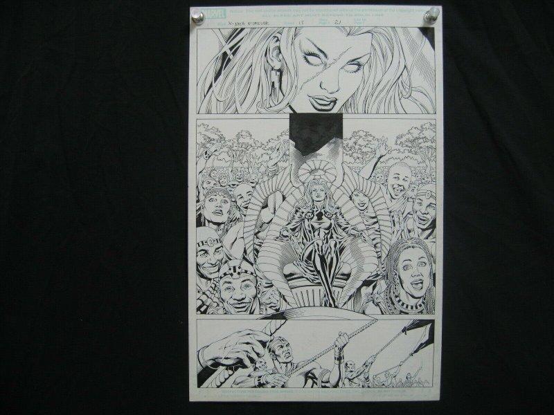 PETER VALE- X-MEN FOREVER-#15-ORIGINAL ART-PG 21-MARVEL FN