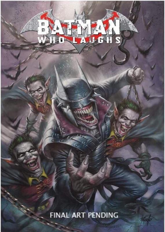 BATMAN WHO LAUGHS #1 PARRILLO TRADE DRESS & B&W  VARIANT DC  1ST GRIMM KNIGHT