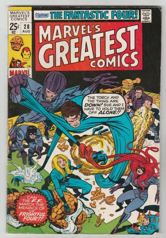 Marvel's Greatest Comics #28 (Aug-71) FN/VF Mid-High-Grade Fantastic Four, Ca...