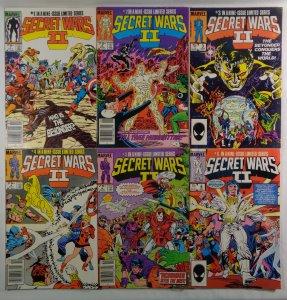 Secret Wars II  #1 2 3 4 5 6 Front/Back Cover Scans Marvel 1985